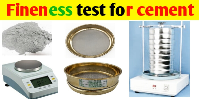 Fineness test for cement, its Procedure & Apparatus