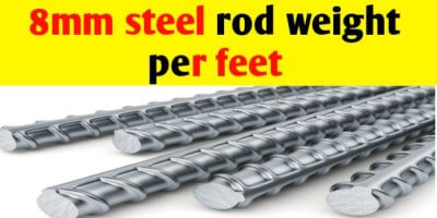 8mm Steel rod weight per feet and per meter
