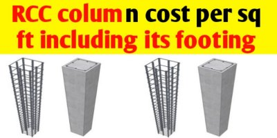 What is the RCC column cost per sq ft in India