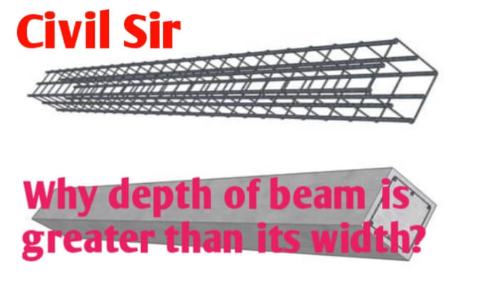 Why depth of beam is greater than its width?