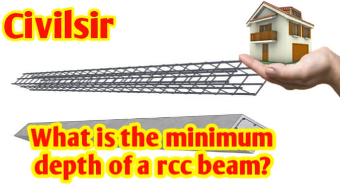 What is the minimum depth of a RCC beam?