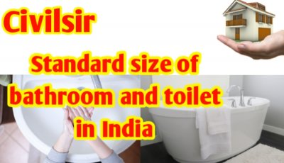 Standard size of bathroom and toilet in India