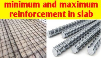 Minimum and maximum reinforcement in slab
