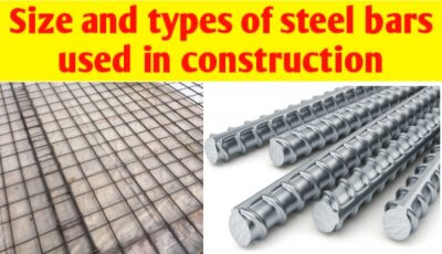 Size and types of Steel bars used in construction