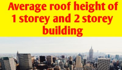Average roof height 1 storey and 2 storey house