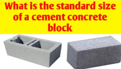 What is the standard size of a cement concrete block
