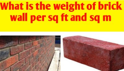What is the weight of brick wall per sq ft and sq m