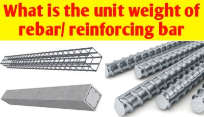 What is the unit weight of rebar/ Reinforcing bar