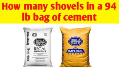 How many shovels in a 94 lb bag of cement