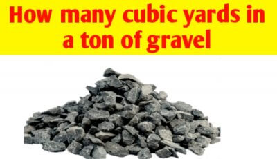 How many cubic yards in a ton of gravel