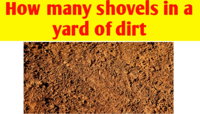 How many shovels in a yard of dirt