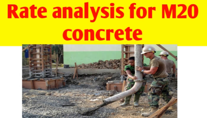Rate analysis for M20 concrete