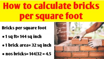 How to calculate bricks per square foot