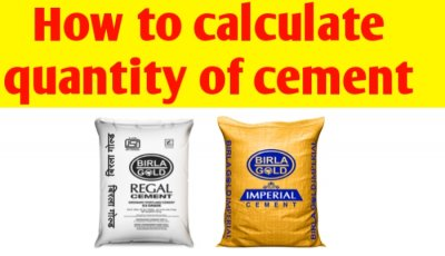 How to calculate quantity of cement