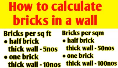 How to calculate bricks in a wall