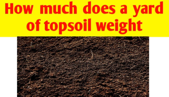How much does a yard of topsoil weight