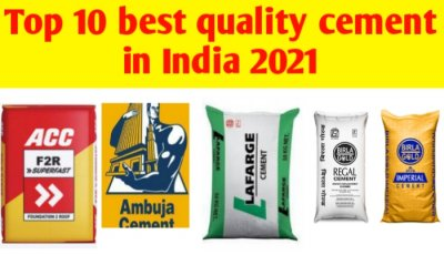 Top 10 best quality Cement in India 2021
