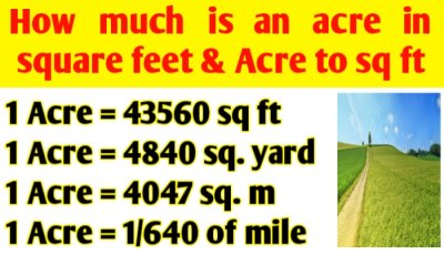 How much is an acre in square feet | Acre to sq ft