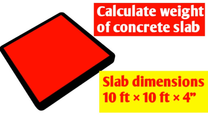 Calculate weight of concrete slab