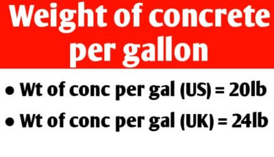 Weight of concrete per gallon | weight of a gallon of concrete