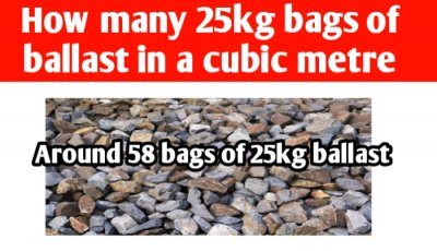 How many 25kg bags of ballast in a cubic metre
