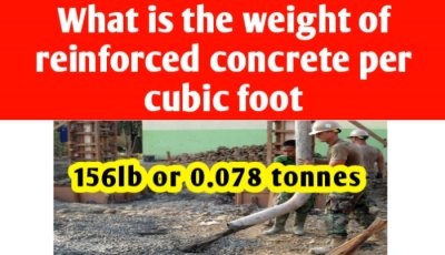 Weight of reinforced concrete per cubic foot