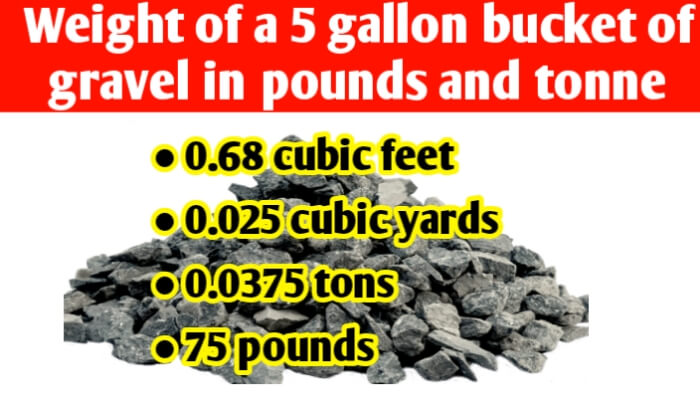 Weight of a 5 gallon bucket of gravel in pounds & tons