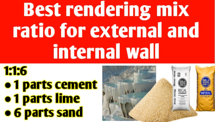 Rendering mix ratio for external and internal wall