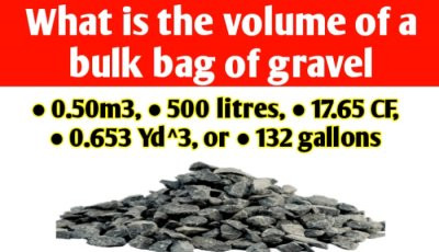 What is the volume of a bulk bag of gravel