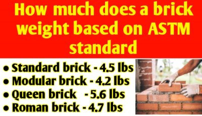 How much does a brick weight based on ASTM standard