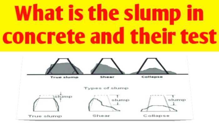 What is the slump in concrete   concrete slump test