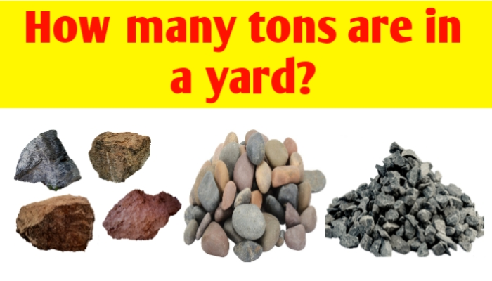 How many tons are in a yard of gravel, sand, rock, topsoil & dirt