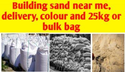 Building sand near me, delivery, colour & 25kg or bulk bag