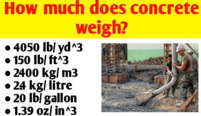 How much does concrete weigh?