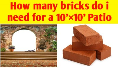 How many bricks do i need for a 10'×10' (100 sq ft) Patio