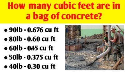 How many cubic feet are in a bag of concrete?