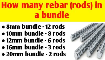 How many rods (rebar) in one bundle in India