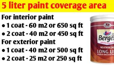 5 litre paint coverage