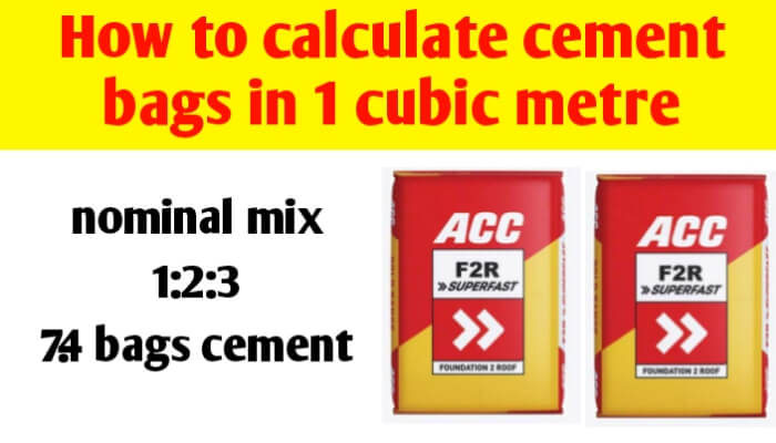 How to calculate cement bags in 1 cubic metre