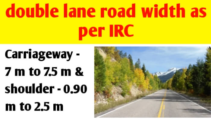 2 (two) lane road width in India as per IRC